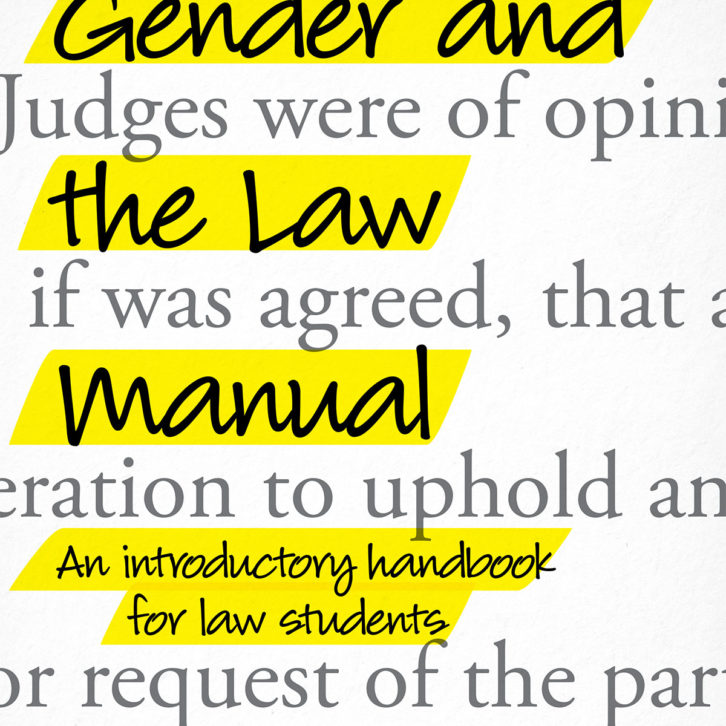 Gender and the Law Manual: An Introductory Handbook for Law Students